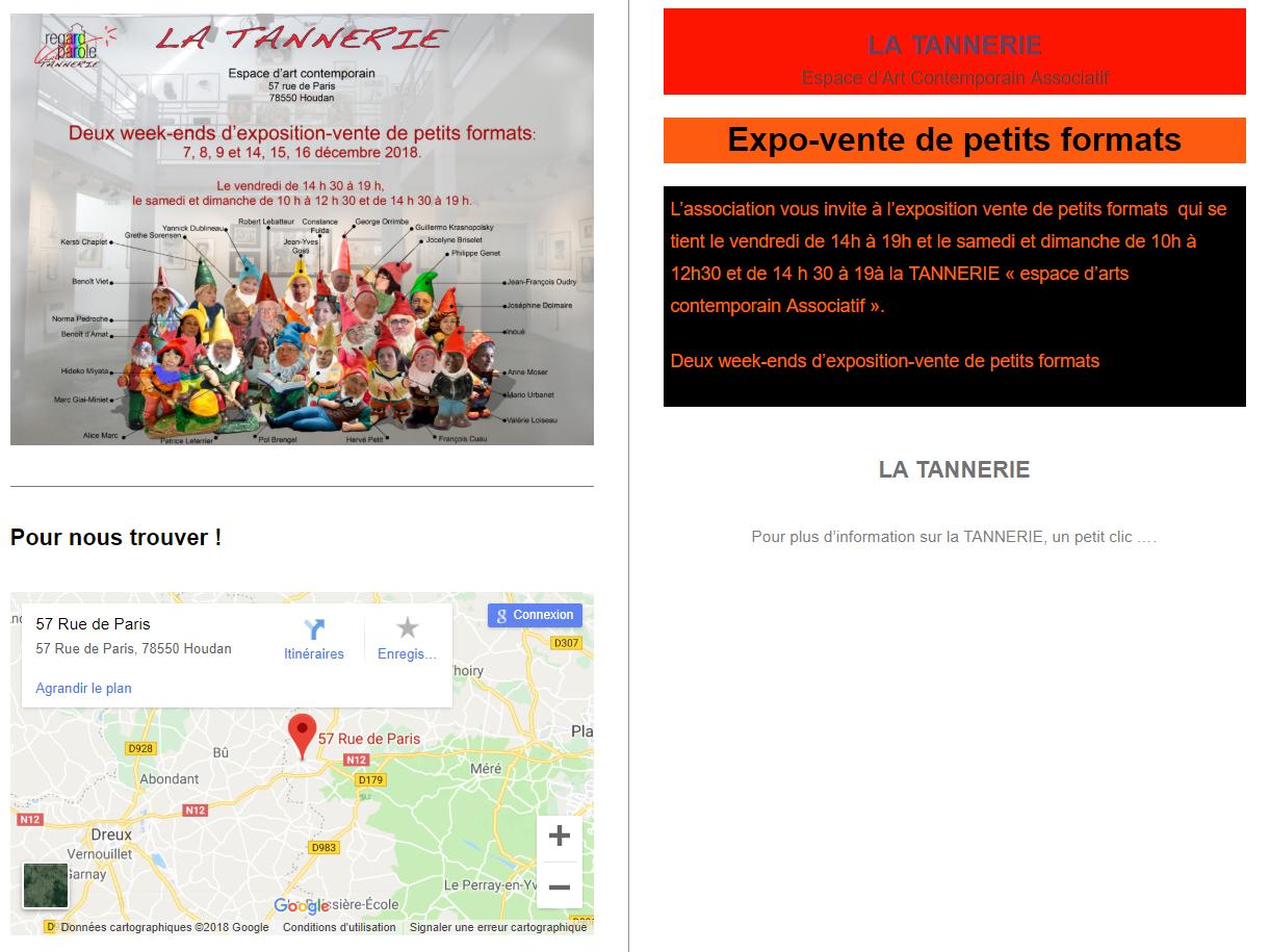 affiche expo-vente la tannerie